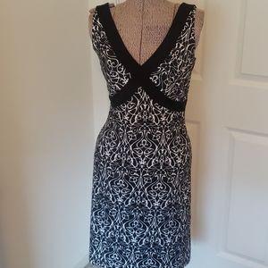 TAHARI sz XS women's sleeveless summer dress